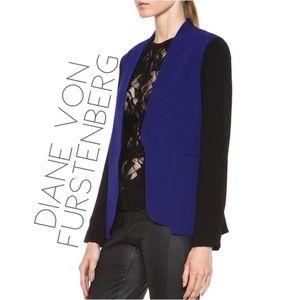 • DVF Diane Von Furstenberg colorblock jacket 6 M